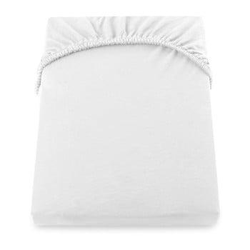 Cearșaf de pat cu elastic DecoKing Nephrite, 220–240 cm, alb imagine