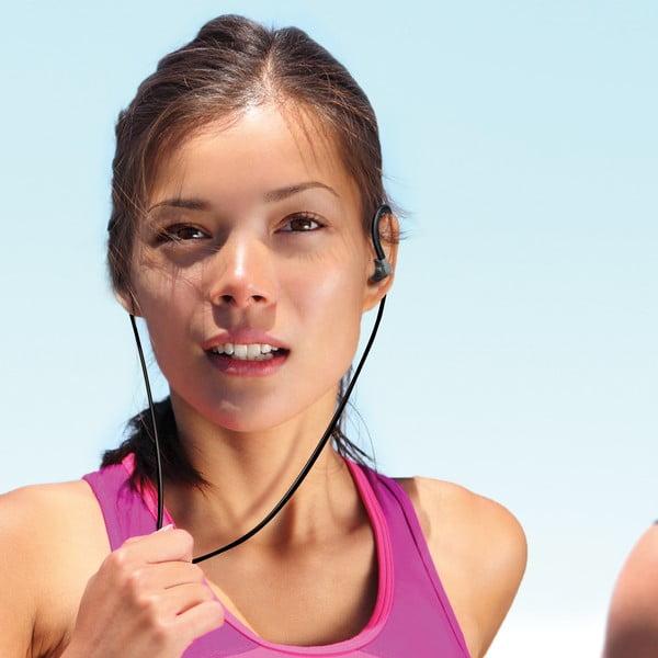 Sportovní sluchátka CELLY s mikrofonem, černá