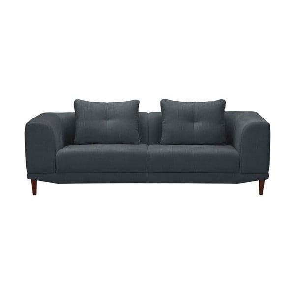 Tmavě šedá trojmístná pohovka Windsor & Co Sofas Sigma