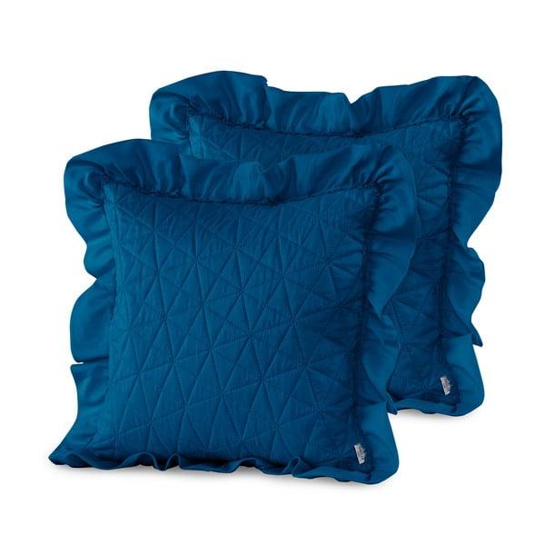 Sada 2 modrých obliečok na vankúš AmeliaHome Tilia, 45 x 45 cm