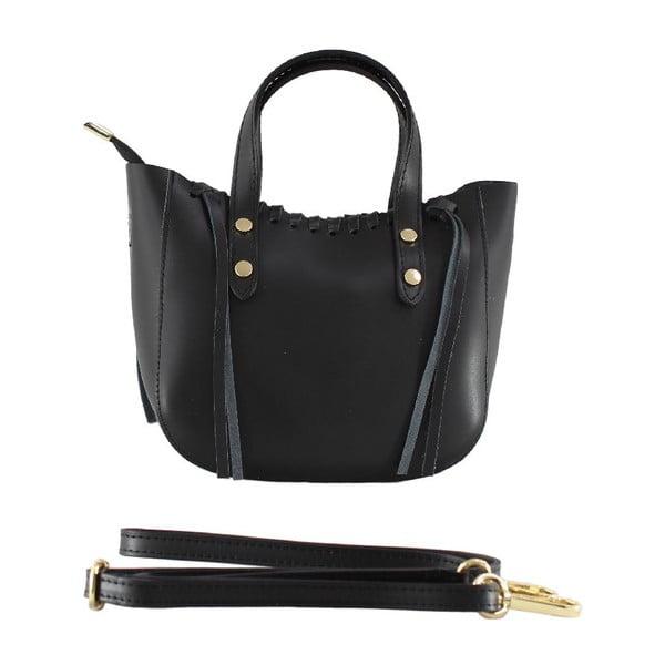 Kožená kabelka Genissa, černá