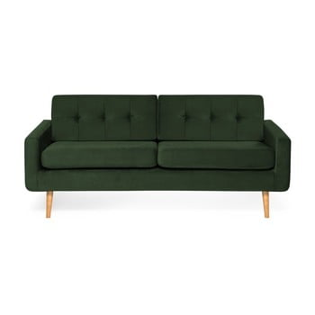 Canapea cu 3 locuri Vivonita Ina Trend, verde închis de la Vivonita