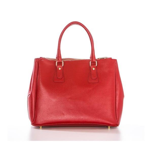Kožená kabelka Ano Red