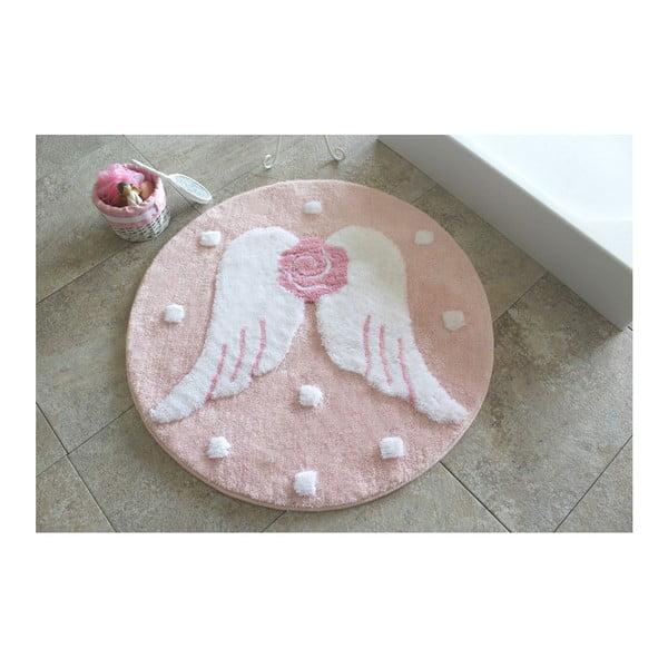 Koupelnová předložka Melek Pink, ⌀ 90 cm