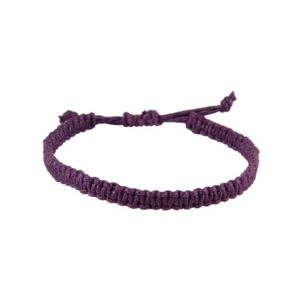 Náramek Macrame plain, purple