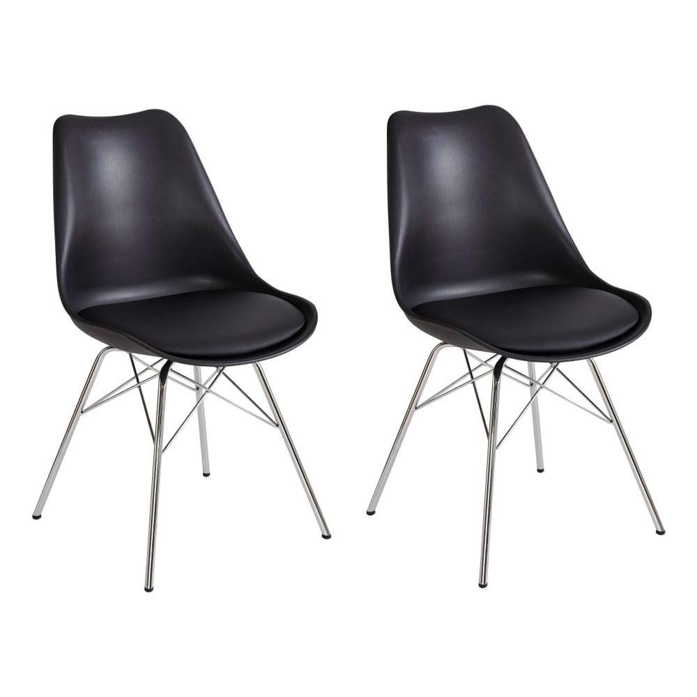 Sada 2 černých jídelních židlí Støraa Jenny