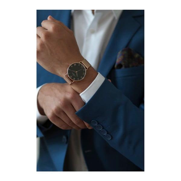 Unisex hodinky s páskem z nerezové oceli v růžovozlaté barvě Frederic Graff Dom