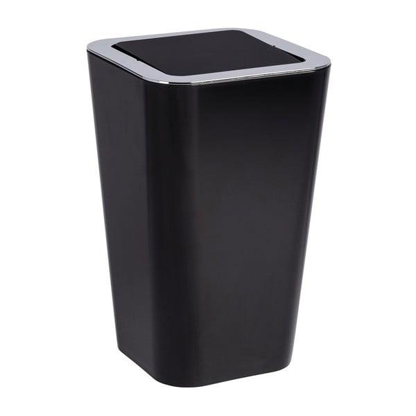 Czarny kosz na śmieci Wenko Candy