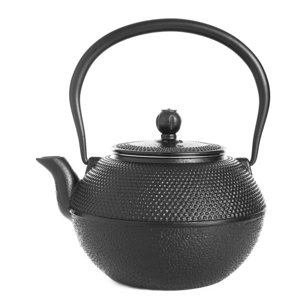 Černá litinová čajová konvice Bambum Taşev Linden, 1,2 l