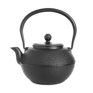 Černá litinová čajová konvice Bambum Taşev Linden, 1,2l