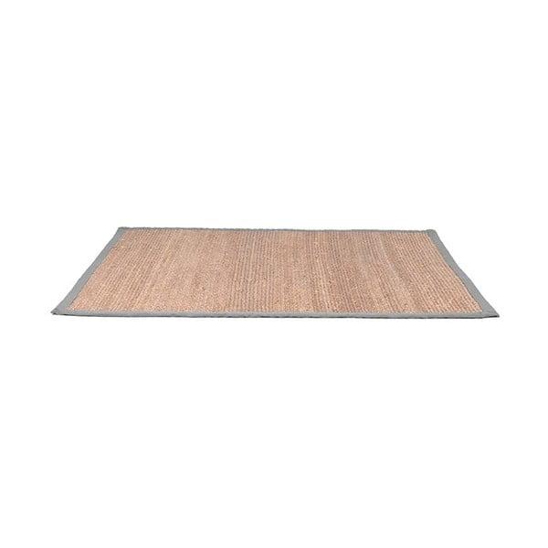 Covor din iută cu detalii gri din bumbac LABEL51, 160x230cm