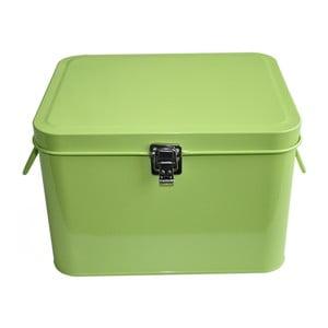 Plechový úložný box Waterquest, limetkový