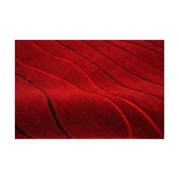 Ručně tkaný koberec Tufting, 120x180 cm, červený