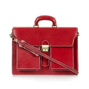 Červená kožená taška přes rameno Italia in Progress Caravaggio