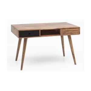 Pracovní stůl z masivního sheeshamového dřeva Skyport REPA