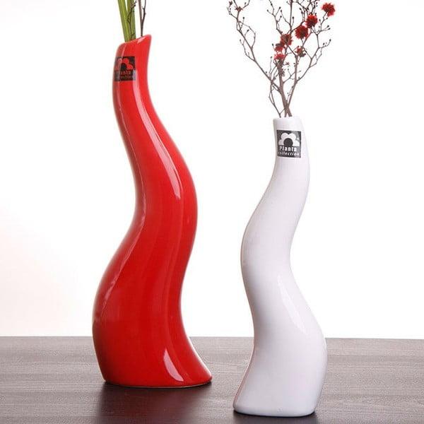 Váza Cele 23 cm, bílá