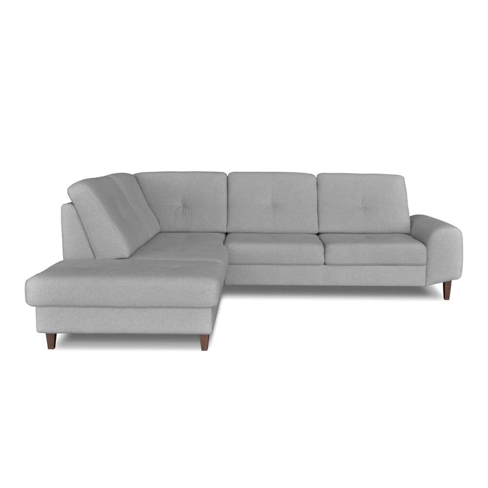 Světle šedá rohová rozkládací pohovka Windsor & Co. Sofas Beta, levý roh