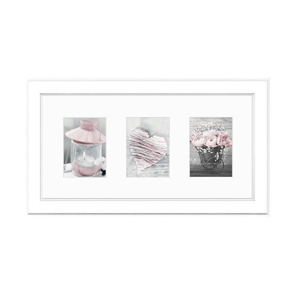 Malmo fehér képkeret, 46 x 23 cm - Styler