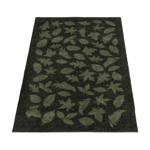 Tmavě zelená rohožka tica copenhagen Leaves, 90x130 cm