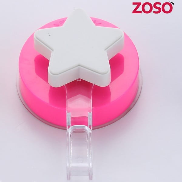 Růžový háček bez nutnosti vrtání ZOSO Star