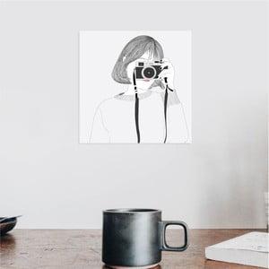 Nástěnný samolepicí obraz North Carolina Scandinavian Home Decors Girl V4, 30 x 30 cm