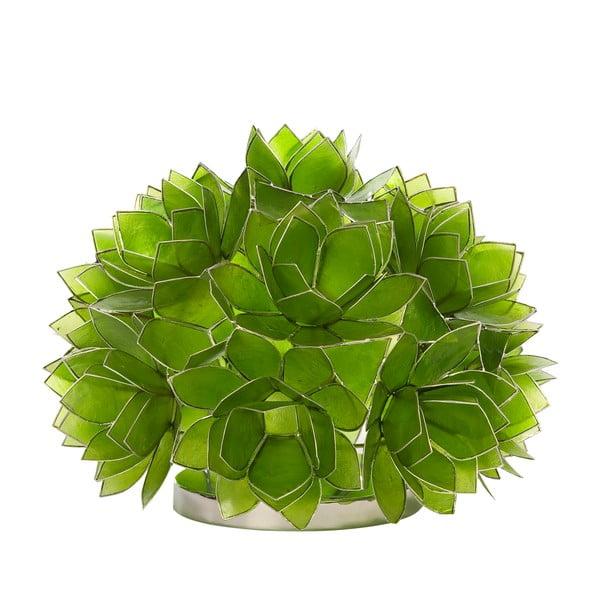 Perleťová stolní lampa Dome, zelená