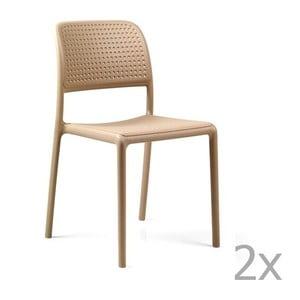 Sada 2 béžových zahradních židlí Nardi Bora Bistrot
