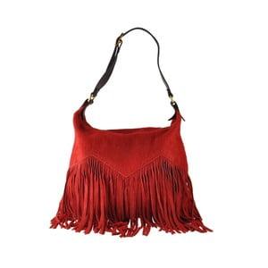 Červená kožená kabelka Florence Bags Petunia