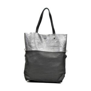 Černá kožená kabelka Carla Ferreri Luferro