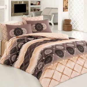 Lenjerie de pat din bumbac cu cearșaf Orianta, 200 x 220 cm