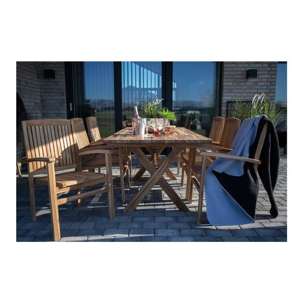 Masă din lemn de tec reciclat House Nordic Murcia, lungime 200 cm
