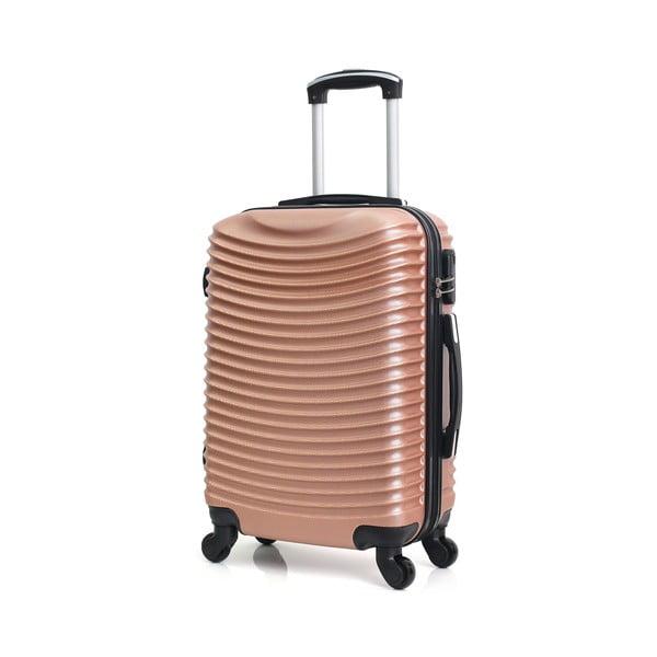 Cestovní kufr v barvě růžového zlata na kolečkách Hero Etna, 36 l