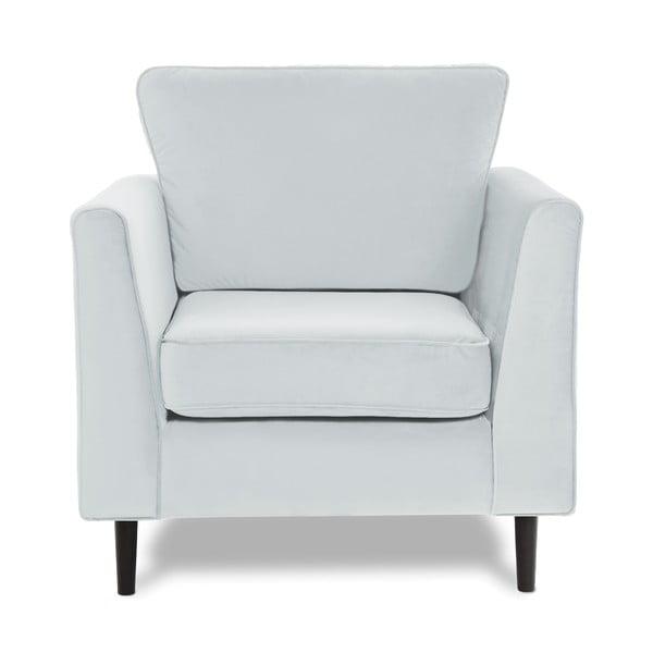 Niebieskoszary fotel Vivonita Portobello