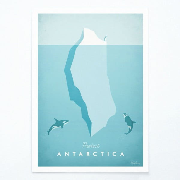 Plakát Travelposter Antarctica, A3