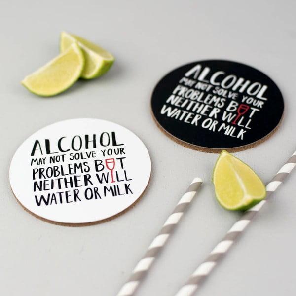 Set 4 podtácků Karin Åkesson Design Alcohol Problems