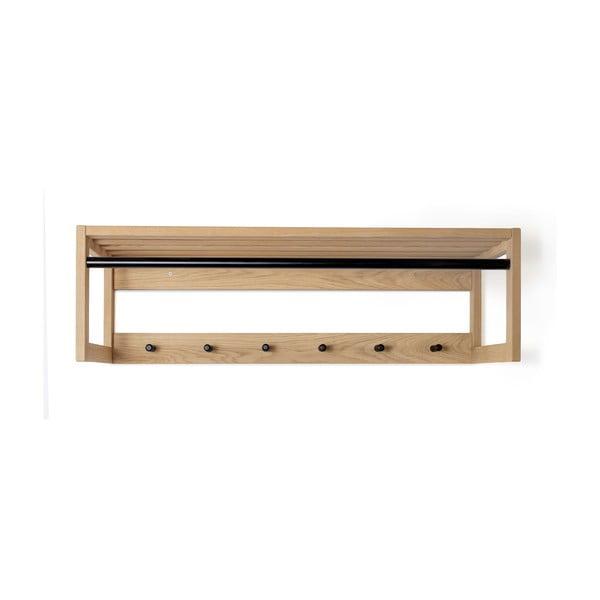 Półka z litego drewna dębowego Woodman Slussen Puro