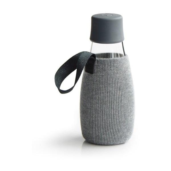 Szary pokrowiec na szklaną butelkę ReTap, 300 ml