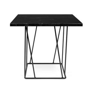Černý mramorový konferenční stolek s černými nohami TemaHome Helix, 50cm