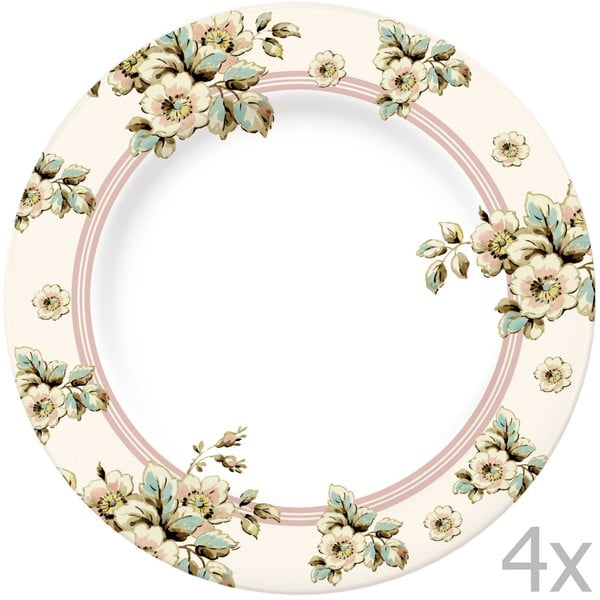 Sada 4 talířů Katie Alice Cottage Flower, 27 cm