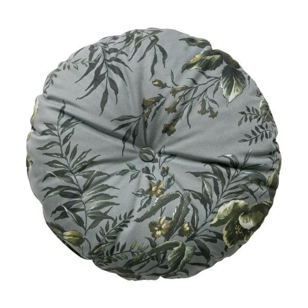 Sivý vankúš s motívom kvetín De Eekhoorn Vogue, ø 45 cm