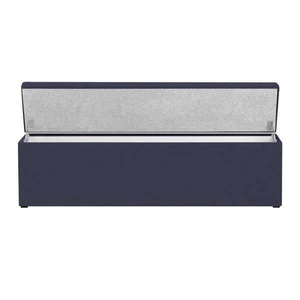 Tmavě modrý otoman s úložným prostorem Windsor & Co Sofas Nova, 180 x 47 cm
