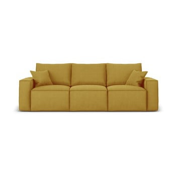 Canapea cu 3 locuri Cosmopolitan Design Miami, galben muștar de la Cosmopolitan Design