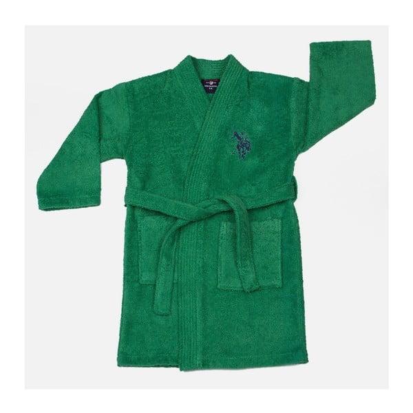 Halat verde de baie pentru copii, U.S. Polo Assn.t, măr. 3/4 ani
