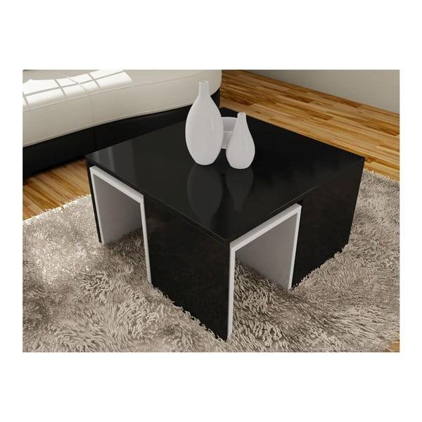 Konferenční stolek se 4 stoličkami Ortanca Black
