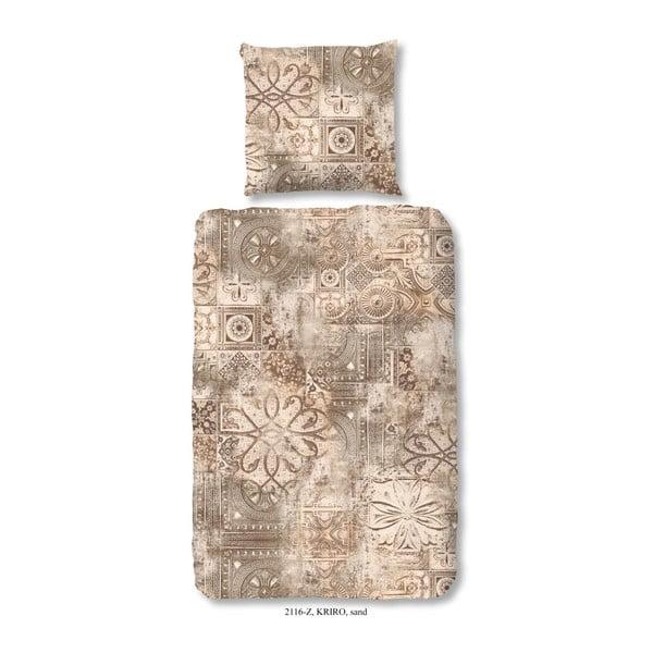 Obliečky na jednolôžko z bavlneného saténu Muller Te×tiels Rusto, 140×200 cm