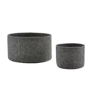 Sada 2 plstěných košíků Zone Dark Grey