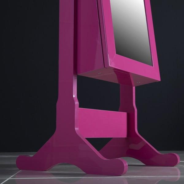 Uzamykatelné stojací zrcadlo se šperkovnicí Angelita, fialové