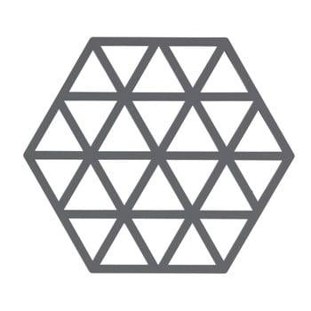 Suport din silicon pentru vase fierbinți Zone Triangles, gri imagine
