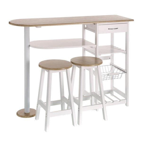 Set masă bar și 2 scaune Unimasa Shelf