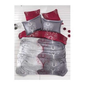 Imagine indisponibila pentru Lenjerie de pat cu cearșaf din bumbac satinat Vintage, 200 x 220 cm